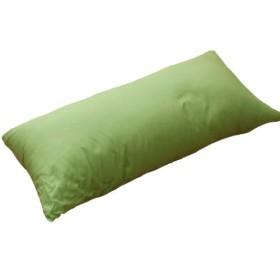 ヌードクッション&カバーセット ロングクッション/ロングピロー/抱き枕 43cm×90cm 国産 オックス2 グリーン