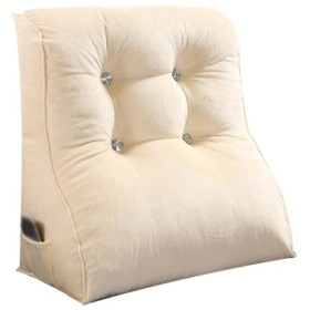 WCH バッククッションシンプルでモダンなウエストの枕韓国のベッドクッション学生バッククッション無地枕クッション (Color : Beige, サイズ : 45X55X30cm)