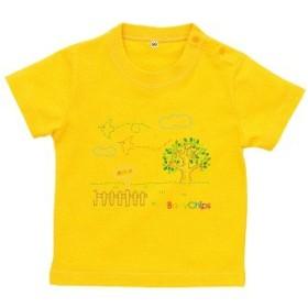 BabyChips 小鳥の旅立ち(名入れ半袖ベビーTシャツ) 150 デイジー
