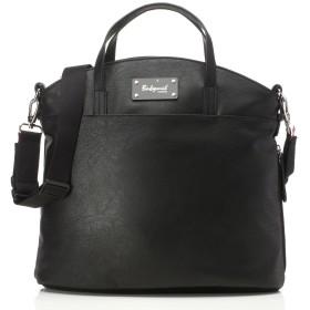 Babymel Grace Faux Leather Satchel Diaper Bag, Black by Babymel
