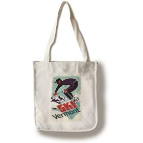バーモント州スキー–レトロSkier Canvas Tote Bag LANT-42109-TT