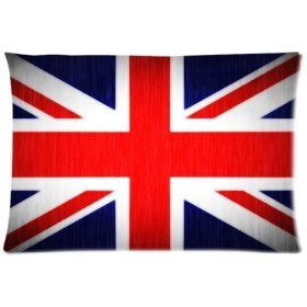 枕カバー 43x63 CM 防臭 ピローケース 防ダニ 抗菌 両面 ユニオンジャックの旗
