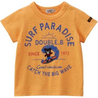 ミキハウス ダブルビー (MIKIHOUSE DOUBLE_B) Tシャツ 62-5209-268 90cm オレンジ