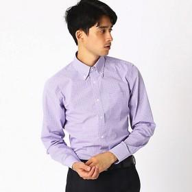 <COMME CA ISM (メンズ)> 《イージーケア・抗菌防臭加工》 カラーチェック ボタンダウンカラーシャツ(4712HN05) ライラック【三越・伊勢丹/公式】