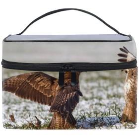 イーグル鳥スノーグラスコスメポーチ メイクポーチ トイレタリーバッグ トラベルポーチ PC周辺小物整理
