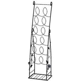 玄関収納 スリッパラック エレガントローズ玄関シリーズ 6段 棚付 省スペース スチール スリム アンティー