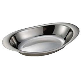 日本製 IKD18-8 カレー皿 丸 10 1/2インチ 小   [ステンレス皿・カレー皿]