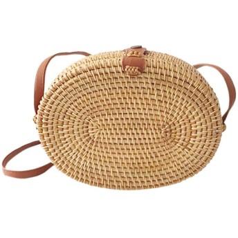 ビーチバック 草編みバッグ パーチャスバッグ レディース 草編みバッグ クラッチバッグ かごバッグ 麦わら カバン ショルダーバッグ 斜めがけ 旅行 夏向け シンプル おしゃれ リゾート風 レディース