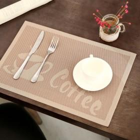 Kuke ランチョンマット テーブルランナー 円形 キッチンマットお手入れ簡単 食卓飾り PVC製 断熱 撥水 防汚 滑り止め プレースマット モダン プレゼント 家庭用 引越し祝い 結婚祝い レストラン用 size 30  45cm (Beige)