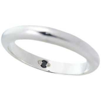 ペアリング用に アニバーサリーリング シルバー925 誕生石入 1個 カップル 結婚指輪 マリッジリング ブラックダイヤモンド 2号