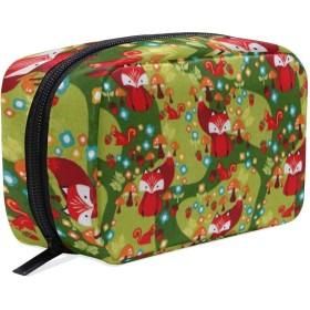キツネドングリ 化粧ポーチ メイクポーチ 機能的 大容量 化粧品収納 小物入れ 普段使い 出張 旅行 メイク ブラシ バッグ 化粧バッグ