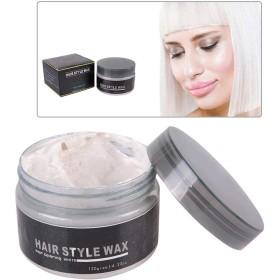使い捨ての新しいヘアカラーワックス、染毛剤の着色泥のヘアスタイルモデリングクリーム120グラム(ホワイト)