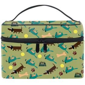 収納バッグ 化粧ポーチ トラベルポーチ 小物入れ 大きめ 女の子 可愛い プレゼントかわいい犬か子犬
