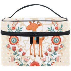 Hello Spring Concept Pattern With Deerコスメ 化粧 洗面 旅行 出張 ホワイトデー お返し ギフト