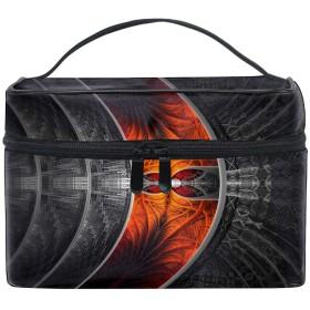 フラクタル抽象アートトイレタリーバッグ トラベルポーチ 洗面用具入れ 化粧ポーチ バスルームポーチ マジックテープ フック付き