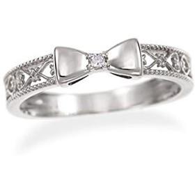 [ジュエリーツツミ]JEWELRY TSUTSUMI K10ホワイトゴールドダイヤモンドリング(ピンキーリング) RFR883 3号