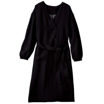 70%OFF【レディース大きいサイズ】 コンシャススリーブコート(手洗いOK) - セシール ■カラー:ブラック ■サイズ:4L,3L,LL,6L,5L