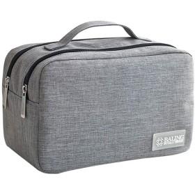 グレーシリーズ旅行化粧品バッグオーガナイザー防水メイクアップバッグ1個 (B09)
