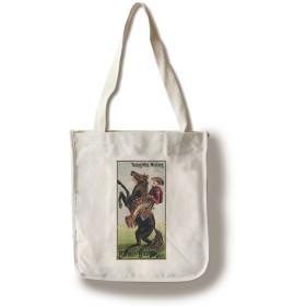 バッファロー・ビル–乗馬Wild Mustang VintageポスターUSA C。1885 Canvas Tote Bag LANT-58196-TT