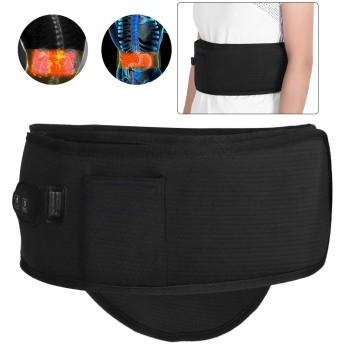 電気加熱ウエストサポートベルト、腰椎関節炎、緊張、捻rain、硬直、腰痛緩和のための超薄型腹部熱振動マッサージラップ、月経腹痛