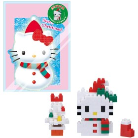 ナノブロック クリスマスカード スノーマン ハローキティ NBGC_002