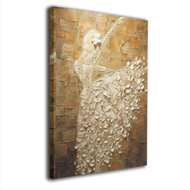 絵画家 アートパネル モダンアート 壁の芸術 装飾画 壁の絵 背景絵画 ダンス バレエ アート キャンバス絵画 壁掛け 部屋飾り 装飾絵 お祝いやプレゼントに 木枠付きの完成品 軽くて取り付けやすい3040cm