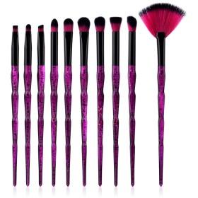 Dilla Beauty ディラビューティ10個セットピュアプリーツダイヤモンドスタースカイプラスチックハンドルユニコーンファンデーション化粧品アイシャドーブラッシュブラシ化粧ブラシセットツール (10 本セット-S)