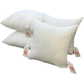 ヌードクッション 45x45 お得な4個セット 日本製 東レFT綿使用 クッションカバー45x45cm用 クッション中身 丸洗い背当て 高反発 まとめ買い 圧縮せずに出荷