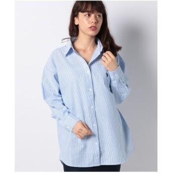 WEGO WEGO/U.S. POLO ASSN.別注BIGシャツ(ブルー系)【返品不可商品】