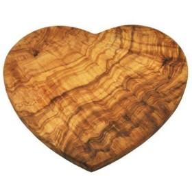 Naturally Med Olive Wood Heart Shaped Board [並行輸入品]