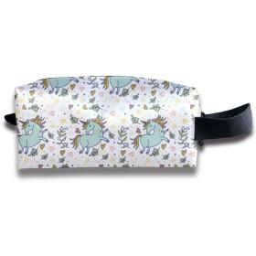 ユニコーン柄 化粧ポーチ メイクポーチ ミニ 財布 機能的 大容量 アイシャドー 化粧品収納 小物入れ 普段使い 出張 旅行 メイク ブラシ バッグ ポータブル 化粧バッグ