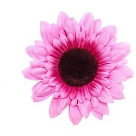 YAZILINDクリエイティブ新しい大きな太陽の花ヘアピンヘアピンシーサイドホリデービーチフォト小道具ヘッドドレスピンク