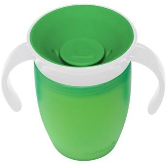 マンチキン(munchkin) ベビー用 マグ こぼれない ハンドル/ふた 付き コップ 6カ月から 上手に飲める 練習 ミラクルカップ 196ml グリーン FDMU10801