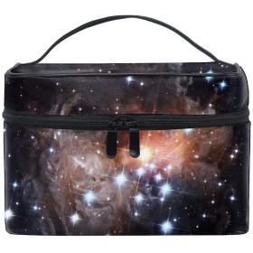 収納バッグ 化粧ポーチ トラベルポーチ 小物入れ 大きめ 女の子 可愛い プレゼントStars Dot Space Universe