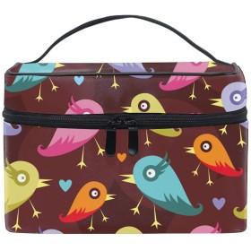 面白い鳥化粧ポーチ 便利グッズ 旅行用ポーチ バッグインバッグ 収納バッグ ペンケース 筆記具 男女兼用