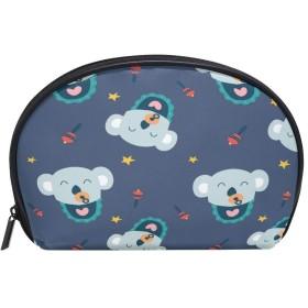 ALAZA コアラの赤ちゃん 半月 化粧品 メイク トイレタリーバッグ ポーチ 旅行ハンディ財布オーガナイザーバッグ
