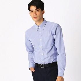 <COMME CA ISM (メンズ)> 《イージーケア・抗菌防臭加工》 カラーチェック ボタンダウンカラーシャツ(4712HN05) ネイビー【三越・伊勢丹/公式】