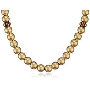 [女性用ペンダント]Tommy Hilfiger Women's Stainless-Steel Beaded Necklace[並行輸入品]