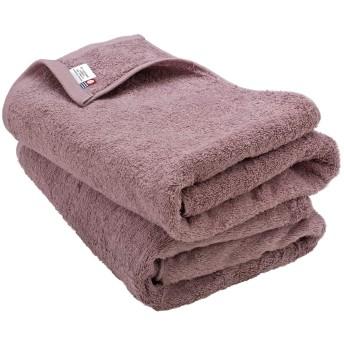 ブルーム 今治タオル 認定 レオン バスタオル 2枚セット ホテル仕様 サンホーキン綿 日本製 (アッシュパープル)