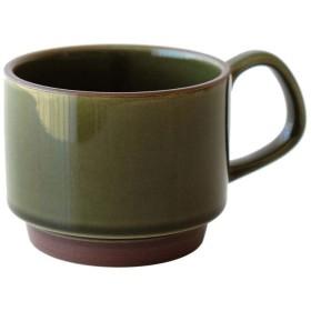 コーヒーマグ スタッキング 磁器 スタッキングマグカップ [aks9802] (B)