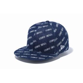 NEW ERA ニューエラ 9FIFTY ロゴオールオーバー インディゴデニム スナップバックキャップ アジャスタブル サイズ調整可能 ベースボールキャップ キャップ 帽子 メンズ レディース 57.7 - 61.5cm 12108854 NEWERA
