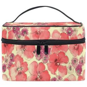 ユキオ(UKIO) メイクポーチ 大容量 シンプル かわいい 持ち運び 旅行 化粧ポーチ コスメバッグ 化粧品 花柄 大きい レディース 収納ケース ポーチ 収納ボックス 化粧箱 メイクバッグ