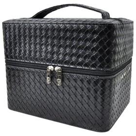 DRASAWEE(JP)メイクボックス コスメボックス コスメケース 化粧箱 多層 機能的 コスメ箱 ブラック