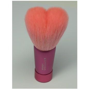 熊野筆 洗顔ブラシ ネーム入れ無料 プレゼント仕様 (女性用ハート型洗顔ブラシ 軸ピンク(M))