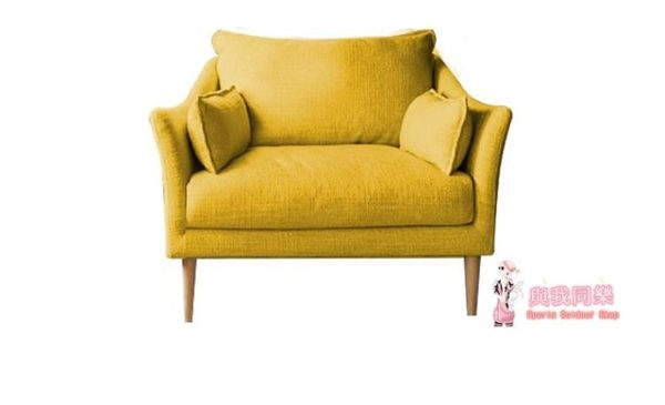 北歐單人沙發椅子布藝陽台臥室沙發書房客廳高靠背沙發椅休閒沙發