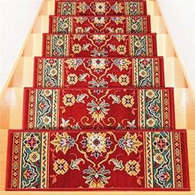 ベルギー製 階段マット 階段シート 【13枚組 レッド】 はつ油・はっ水加工