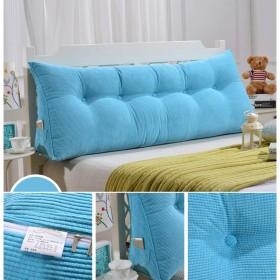 あと振れ止めのベッドの枕三角形の枕大きい枕ヘッドボードのパッドを入れられた腰椎パッドの柔らかいヘッドレストの取り外し可能な洗濯できる (Color : 7, Size : 90x20x50cm)