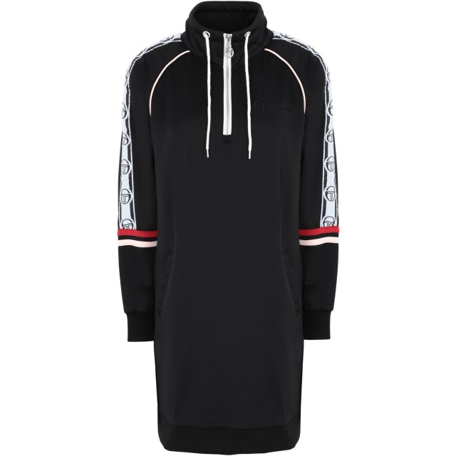 《期間限定セール開催中!》SERGIO TACCHINI レディース ミニワンピース&ドレス ブラック XS ポリエステル 95% / ポリウレタン 5% DAISY TRACK DRESS