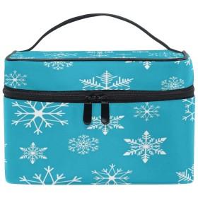 La Rose 化粧箱 化粧ポーチ 大容量 おしゃれ 雪 冬 軽量 小物入れ 持ち運び かわいい 多機能 コスメポーチ メイクポーチ 収納バッグ 出張 旅行 プレゼント