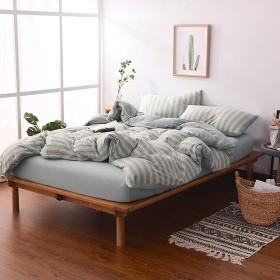 Fashion·LIFE 新生活応援 寝具カバーセット 4点セット 掛け布団カバー ボックスシーツ 枕カバー 和式 封筒式 四季通用 綿100% シンプルでおしゃれ しま模様 お洒落 柔らかい 優れた通気性 雰囲気アップ エレガント